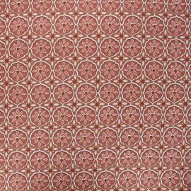 Coated cotton fabric - terracotta Suez x 10cm