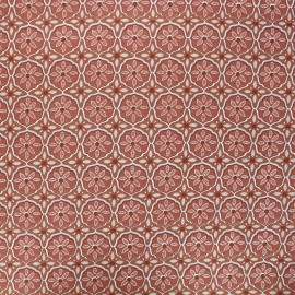 Tissu coton enduit Suez - terracotta x 10cm