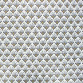 Coated cotton fabric - grey Baker x 10cm