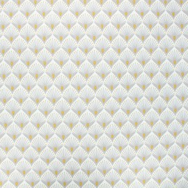 Coated cotton fabric - light grey Baker x 10cm