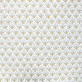 Tissu coton enduit Baker - gris clair x 10cm