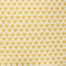 Tissu coton enduit Baker - jaune moutarde x 10cm