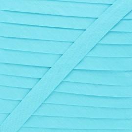 20 mm Polycotton Bias binding - lagoon blue x 1m