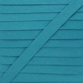 20 mm Polycotton Bias binding - peacock blue x 1m