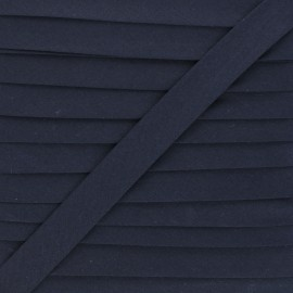 20 mm Polycotton Bias binding - abyss blue x 1m