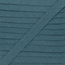 20 mm Polycotton Bias binding - petrol blue x 1m