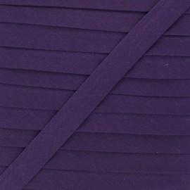20 mm Polycotton Bias binding - eggplant x 1m