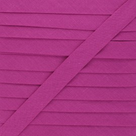 20 mm Polycotton Bias binding - mulberry x 1m