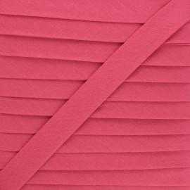 Biais tout textile 20 mm - camélia x 1m