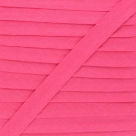 Biais tout textile 20 mm - rose intense x 1m
