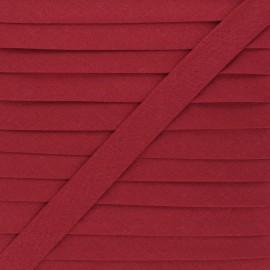Biais tout textile 20 mm - rouge pourpre x 1m