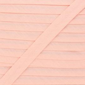 Biais tout textile 20 mm - pêche x 1m
