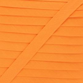 Biais tout textile 20 mm - orange éclatant x 1m