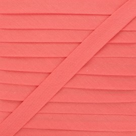 20 mm Polycotton Bias binding - guava x 1m