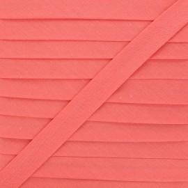 Biais tout textile 20 mm - goyave x 1m