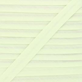 20 mm Polycotton Bias binding - pale green x 1m