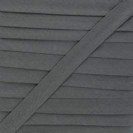 Biais tout textile 20 mm - gris basalte x 1m