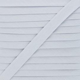 Biais tout textile 20 mm - gris souris x 1m