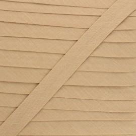 Biais tout textile 20 mm - latté x 1m