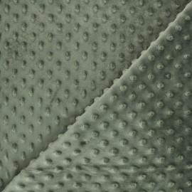 Dotted minkee velvet fabric - military green x 10cm