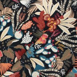 Tissu coton sergé Garden - blanc x 10cm
