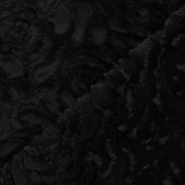 Fur fabric - black Helsinki x 10cm