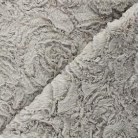 Fur fabric - light grey Helsinki x 10cm