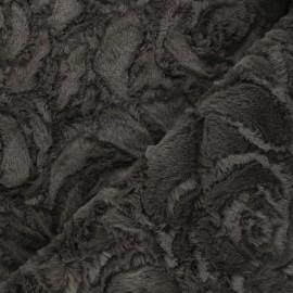 Fur fabric - dark grey Helsinki x 10cm