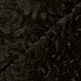 Tissu fourrure Helsinki - chocolat x 10cm