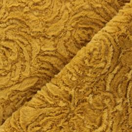 Tissu fourrure Helsinki - jaune moutarde x 10cm