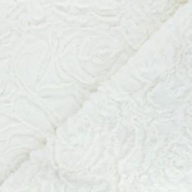 Tissu fourrure Helsinki - blanc cassé x 10cm