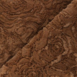 Fur fabric - hazelnut Helsinki x 10cm