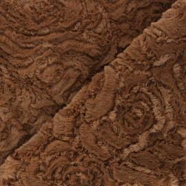 Tissu fourrure Helsinki - noisette x 10cm