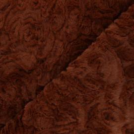 Tissu fourrure Helsinki - cannelle x 10cm