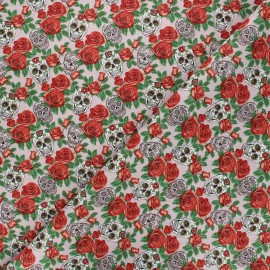 Tissu coton cretonne Dolores - rose x 10cm