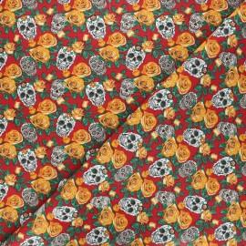 Tissu coton cretonne Dolores - rouge x 10cm