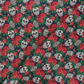 Tissu coton cretonne Dolores - jaune x 10cm