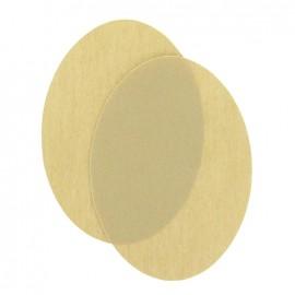 Coudières thermocollants toile beige