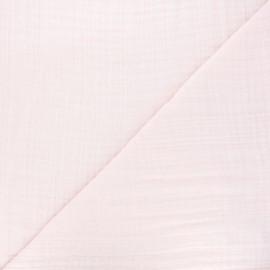 Tissu triple gaze bambou uni - rose clair x 10cm