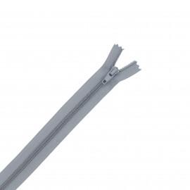 Nylon zipper - grey
