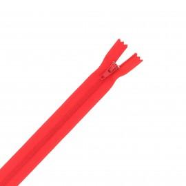 Nylon zipper - red