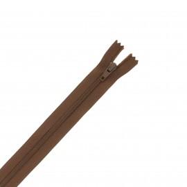 Nylon zipper - brown