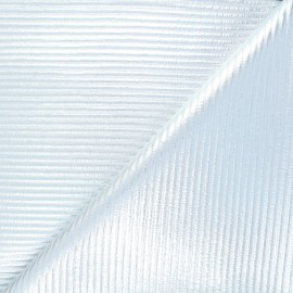 Quilted jersey fabric - silver Saturnia x 10cm