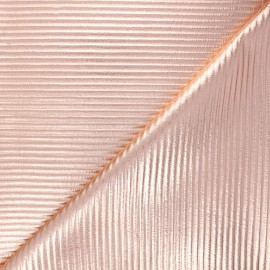 Quilted jersey fabric - copper Saturnia x 10cm