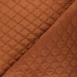 Quilted lining reversible fabric - cinnamon Puffy x 10cm