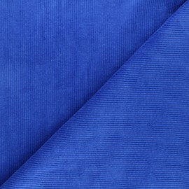 Tissu velours côtelé washé Cardiff - bleu x 10cm