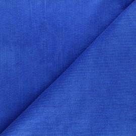 Washed ribbed velvet fabric - blue Cardiff x 10cm