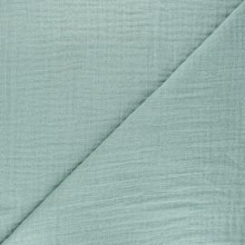 Plain bamboo triple gauze fabric - rosemary green x 10cm