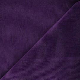 Tissu velours côtelé washé Cardiff - crocus x 10cm