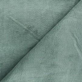Tissu velours côtelé washé Cardiff - vert sauge x 10cm